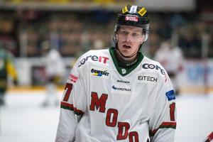 Lars Bryggman under Modos träningsmatch mot Björklöven.