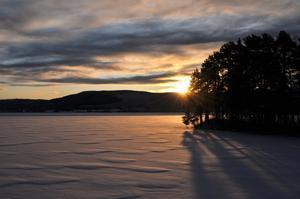 En fin December dag. (Fiskviken, Strömsnäs)
