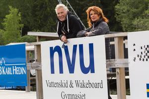 Bengt och Vivianne Marberg vid kabelparken i Eskiln.