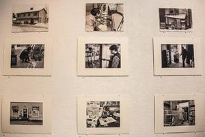 Lars Hägglunds svartvita fotografier av Tälle Livs, lanthandeln i Letsbo och Tempo i Ramsjö uppskattades.