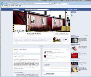 På Facebook finns en sida som utger sig för att vara Hudiksvallsbostäders.