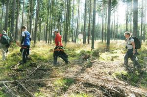 Det blir en hel del skogspromenader när det handlar om fältskytte.