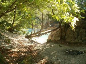 Floden Styx var enligt grekisk mytologi nedgången till Dödsriket. Man färdades på en färja som framfördes av dödsguden Karon. Vi såg dock varken till någon färja eller dödsgud, men vackert var det!