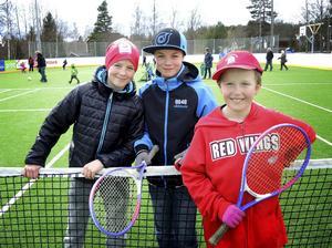 Albin Wiklund Norman, Liam Hjärpe och Andrew Strömer var väldigt glada över de nya möjligheterna vid Snickarrinken.