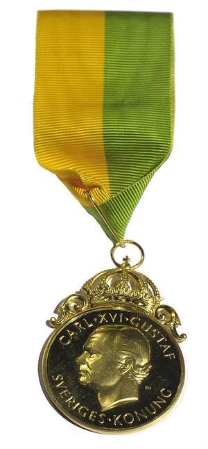 Medaljen utdelades vid en ceremoni vid Riddarhuset i Stockholm.