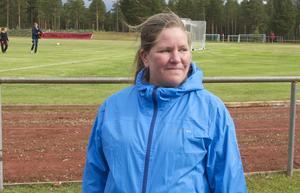 Birgitta Sjöström var mycket nöjd med fotbollsmatchen och ararngemang runt den.