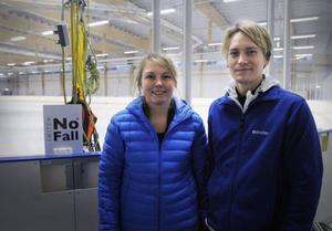 Jenny Mattsson, huvudtränare i Castor, tillsammans med Kristoffer Berntsson.