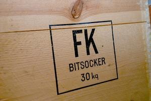 En gammal hederlig återvinningsbar fraktförpackning.