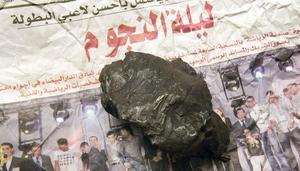 En av de nya meteoriter som kan beskådas på Dellenova.
