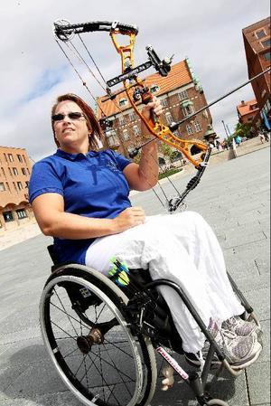 Zandra Reppe siktar närmast på bågskytte-VM i Italien och tävlar så ofta hon kan.