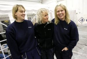 Maria Morell, Ewa Qvist och Monica Pedersen är saneringstekniker på Ocab.