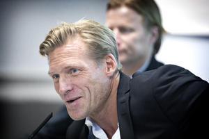 Johan Mjällby strax innan han blev klar som manager för VSK Fotboll.