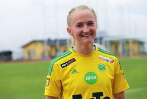 En nöjd Anna Hammergård.