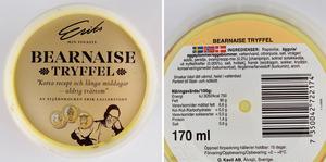 Erik Lallerstedts bearnaisesås med tryffel utsågs till Årets matbluff i Äkta varas omröstning.