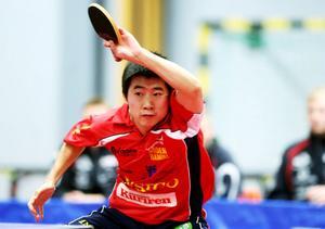 Sun Jian tog två singelsegrar mot Halmstad.