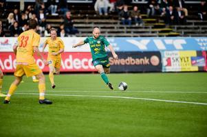 Jörgen Sundström gjorde ett mål när Dalkurd besegrade Boden med 2-1. Foto:Jonatan Svedgård