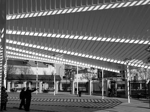 Den nybyggda tågstationen i Palma de Mallorca har ett läckert