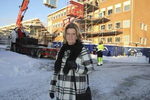 Det kommer finnas fyra plan på Alirskolan och de tre översta våningarna får ett arbetslag var som lägger upp elevernas undervisning, enligt Eva Eklund, för- och grundskolechef.