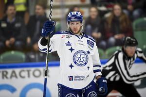 Leksands Alexander Ytterell jublar efter sitt 1-3 mål.