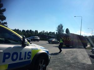 Vid 15-tiden på måndagen larmades SOS alarm till en olycka i Härnösand.