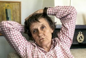 Astrid Lindgren 1976 i Stockholm. Arkivbild.
