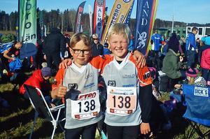 Olle Långberg och Aron Sidenvall, Hudiksvalls OK.