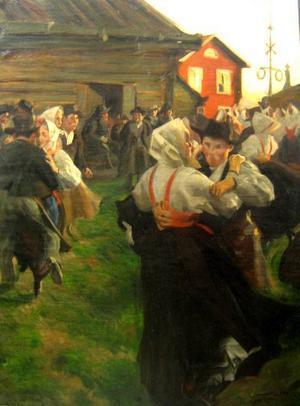 """En förfalskad """"Midsommardans"""".Foto: Polismuseet"""