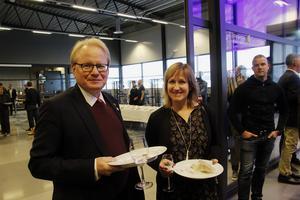 Strax innan jul deltog försvarsminister Peter Hultqvist i invigningen av den nya flygplatsen i Sälen.