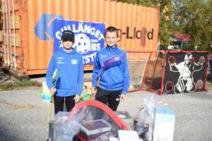 Innebandykillarna Vilmer Johansson och Melvin Granquist från Gullänget-Kroksta.