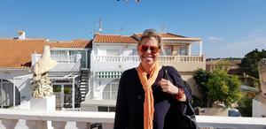 Cecilia Burhagen är certifierad utlandsmäklare på Fastighetsbyrån vid kontoret i Torrevieja.