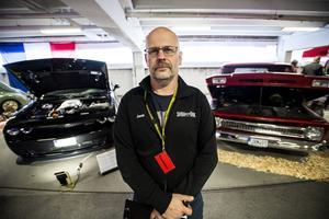 Jonas Lundgren från SHRA var nöjd med årets motorshow och lovar att de kommer tillbaka nästa år.
