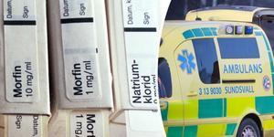 Enligt regionen saknas morfin i de förråd som ambulanspersonal har tillgång till.
