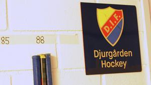 Klubborna med nummer 88 är Patrik Berglunds – och de är placerade närmast ingången till Djurgårdens omklädningsrum i Globen. Berglund kommer dock att ha tröjnummer 21 i DIF.