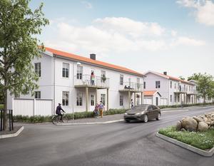 Fokus kommer att ligga på hållbarhet under bygget av de nya lägenheterna. Bild: Pressbild
