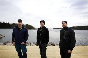 Magnus, Lars Göran och Dennis Bergman.