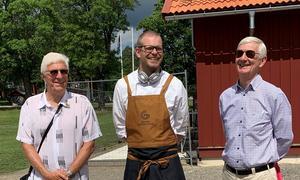 Fr. v. Leif Karlsson, Hans-Erik Holmquist Högbo Bruk och Thomas Montalvo. Foto: Kerstin Jonson