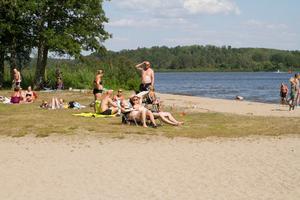 Badet på Malmön i juli i år.
