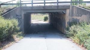 Viadukten i Fagersta där kvinnan hittades den 27 juli i år.