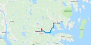 Sträckan mellan Ullånger och Docksta där hastigheten kommer att höjas. Bild: Google.se/maps