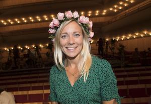 Frida Hansdotter debuterade som sommarvärd i P1 i veckan. Foto: Fredrik Sandberg / TT