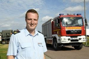 Martin Voss, chef för de tyska brandmännen.
