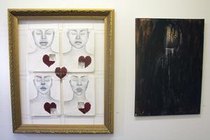 Här är två verk som sticker ut i den stora blandade utställningen på BGB:  Sussanna Ottessens