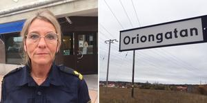 Offret var ute och gick en hundpromenad på gångbanan vid Oriongatan när misshandeln skedde.