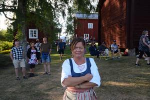 Annika Brandt, ordförande i Svärdsjö Hembygdsförening är nöjd med kvällen.