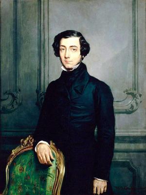 Alexis de Tocqueville. Målning av Théodore Chassériau från 1850.