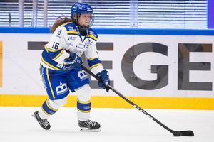 Kajsa Armborg under ishockeymatchen mot Modo. Hon var besviken efteråt och berättar om frustrationen i laget: