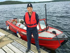 Siri Lundberg redo att ge sig ut till sjöss.