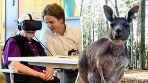 De äldre på Norra kajens äldreboende fick besöka olika delar av världen utan att behöva lämna boendet – via VR-glasögon.
