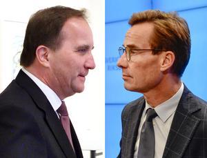 Statsminister Stefan Löfven (S) och moderatledaren Ulf Kristersson. Foto: TT
