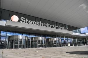Stockholmsmässan i Älvsjö har intensivvårdsplatser under coronakrisen. Foto: Anders Wiklund / TT